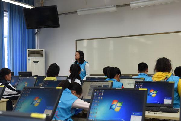 促进张店七中与淄川峨庄中学学生间的相互了解,两校学生还