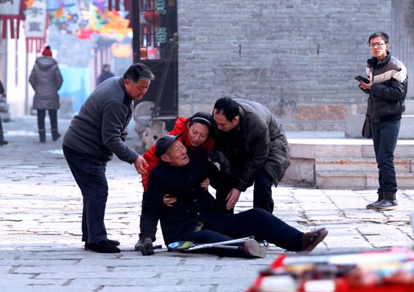 影展获奖作品《人间处处有真情》.图片来源:淄博市民政局 李波摄