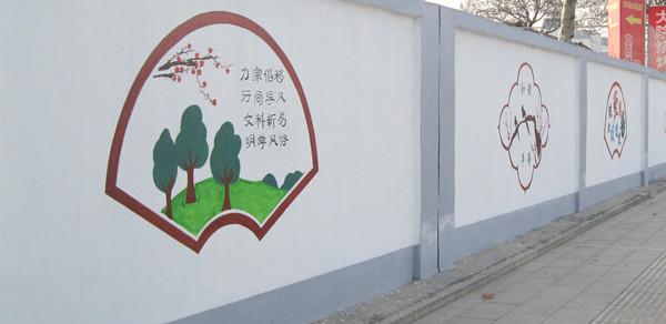 校园文化墙手绘线条