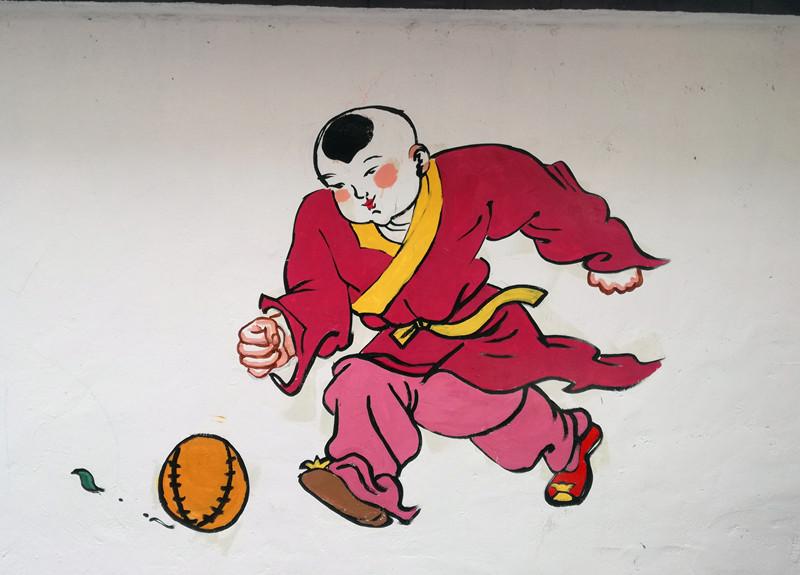 中国梦里,有强国也有富民,有期盼也有实干,通过文化墙展示多彩中国梦